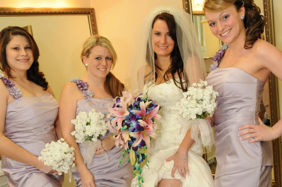 bride with her bride's maid